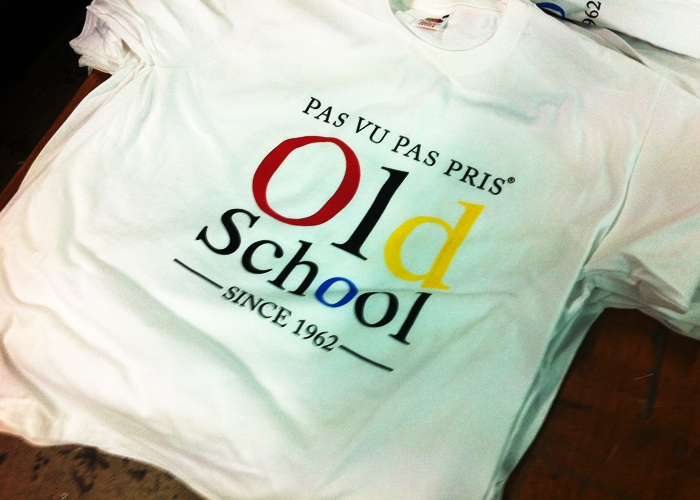 sérigraphie t-shirt old school