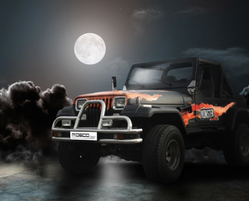 jeep covering monster