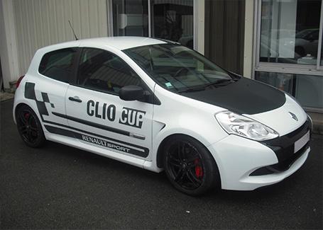marquage vehicule clio